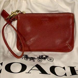 Coach est 1941 red wristlet